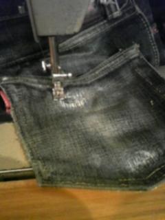 ジーンズのポケットの修理